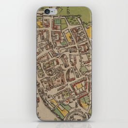 Vintge Map of Oxford England (1605) iPhone Skin