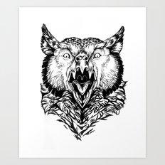Beware the Owlbear Art Print