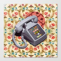 telephone Canvas Prints featuring Telephone by Oleg Borodin