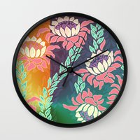 sunrise Wall Clocks featuring Sunrise by Vikki Salmela
