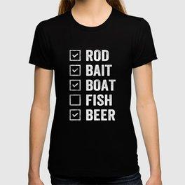 Fishing step by step T-shirt