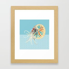 N is for Nautilus Framed Art Print
