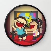 dancing Wall Clocks featuring Dancing! by LesliePinto
