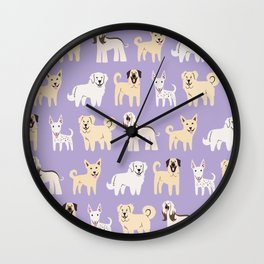 MIDDLE EASTERN DOGS Wall Clock