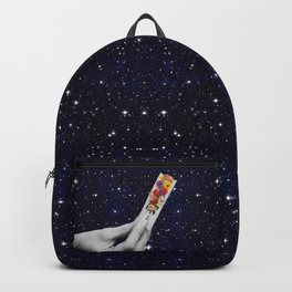 Rolling Flower in Space Backpack