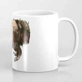 Bison, Bull, animal woodland, bison art, wildlife design Coffee Mug