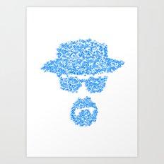 Breaking blue Art Print
