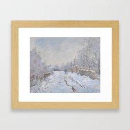 Snow Scene at Argenteuil Framed Art Print