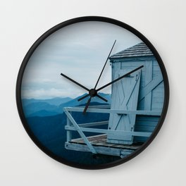 Blue Hour Fire Lookout Wall Clock