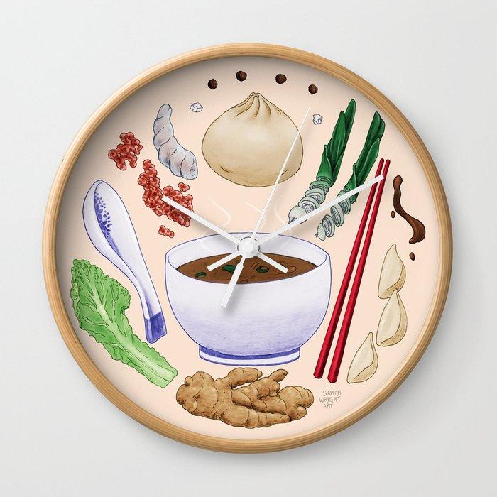 Dumpling Diagram Wall Clock