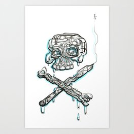'Till death do us art Art Print