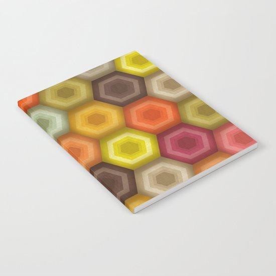 crochet honeycomb retro Notebook