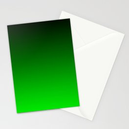 Black and Lime Gradient Stationery Cards