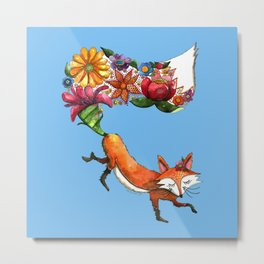 Hunt Flowers Not Foxes Metal Print