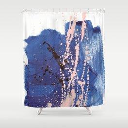 brush strokes 3 Shower Curtain