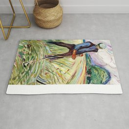 The Haymaker by Edvard Munch Rug
