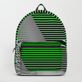 Graphic in green and black Backpack