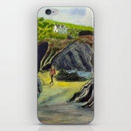 Llangrannog beach, Wales iPhone Skin