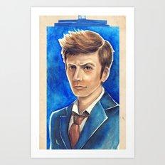 David Tennant 10th Doctor Who Art Print