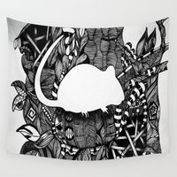 rat Wall Tapestries featuring Rat by Mindy Robinson