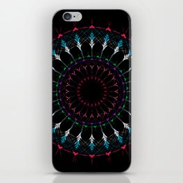 Sacred Geometry radial Mandala iPhone Skin