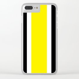 TEAM COLORS 10....YELLOW,BLACK Clear iPhone Case