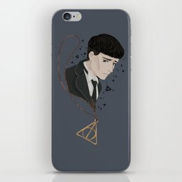 Credence Barebone + Deathly Hallows necklace iPhone Skin