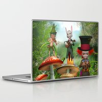 concert Laptop & iPad Skins featuring Night Concert by Simone Gatterwe