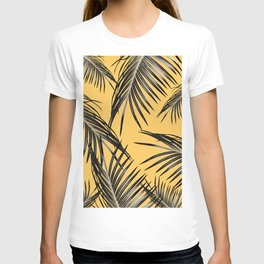 Black Palm Leaves Dream #6 #tropical #decor #art #society6 T-shirt