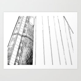 Monotone Bridge Art Print
