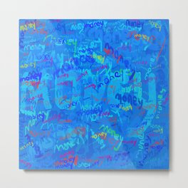 mostly blue money Metal Print