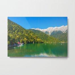 Lake and Mountains  Metal Print
