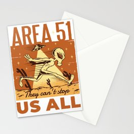Area 51 Alien Do not all of us can stop saying Stationery Cards