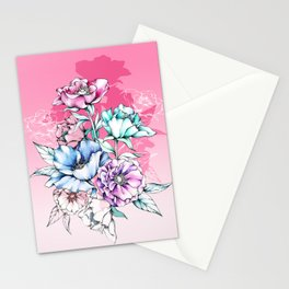 Poppy Bouquet- Pink Stationery Cards