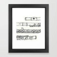 Flöte Framed Art Print