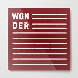 WONDER STRIPES (red) Metal Print