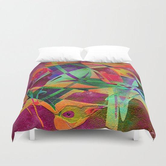 """"""" Rainbow bird  """"  Duvet Cover"""
