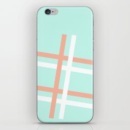 Turquoise & Coral (4) iPhone Skin