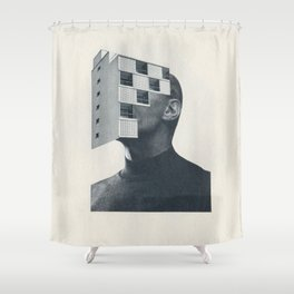 Vacancy Zine Shower Curtain