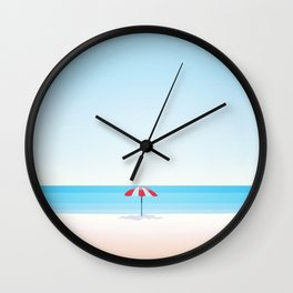 Beach Umbrella Wall Clock