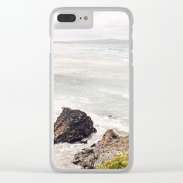Sea shore Godrevy, Cornwall, England Clear iPhone Case