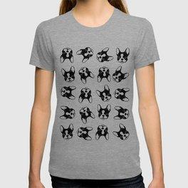 French bulldog pattern T-shirt