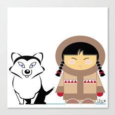 Little Inuit Canvas Print