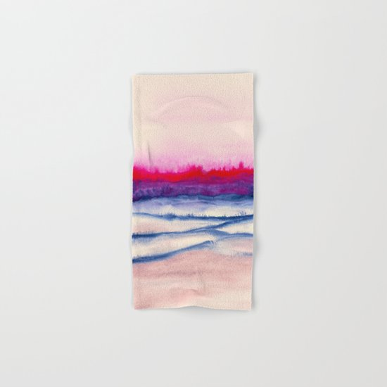 Watercolor abstract landscape 29 Hand & Bath Towel