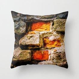 Bricks And Mortar Throw Pillow