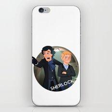 Sherlock Holmes and Watson cartoon iPhone & iPod Skin