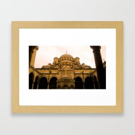 Mosque from above. Framed Art Print