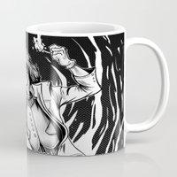 superheroes Mugs featuring Superheroes SF by Jesus Bane