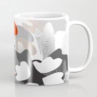 scandinavian Mugs featuring scandinavian nature by Lucja
