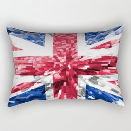 Extruded Flag of the United Kingdom Rectangular Pillow